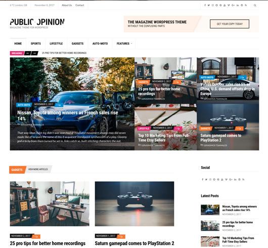 On line templates για magazino-ειδησεογραφικά