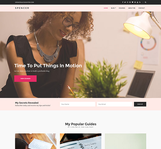 on line blog templates